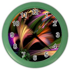 Color Burst Abstract Color Wall Clocks by Onesevenart