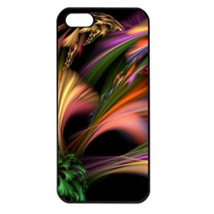 Color Burst Abstract Apple Iphone 5 Seamless Case (black) by Onesevenart