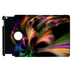 Color Burst Abstract Apple Ipad 2 Flip 360 Case by Onesevenart