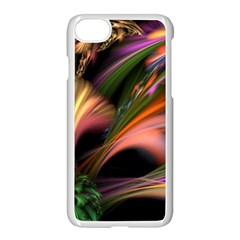 Color Burst Abstract Apple Iphone 7 Seamless Case (white) by Onesevenart