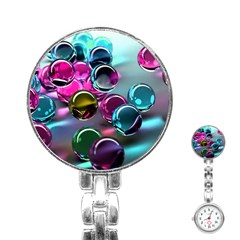 Colorful Balls Of Glass 3d Stainless Steel Nurses Watch by Onesevenart