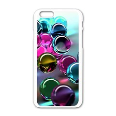 Colorful Balls Of Glass 3d Apple Iphone 6/6s White Enamel Case by Onesevenart