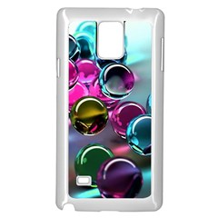 Colorful Balls Of Glass 3d Samsung Galaxy Note 4 Case (white) by Onesevenart