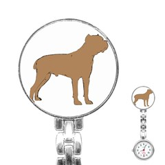 Cane Corso Silo Color Stainless Steel Nurses Watch by TailWags