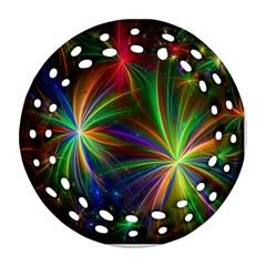 Colorful Firework Celebration Graphics Ornament (round Filigree)