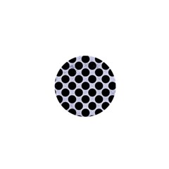 Circles2 Black Marble & White Marble (r) 1  Mini Magnet by trendistuff