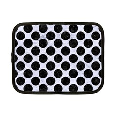 Circles2 Black Marble & White Marble (r) Netbook Case (small) by trendistuff