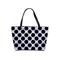 Circles2 Black Marble & White Marble (r) Classic Shoulder Handbag by trendistuff