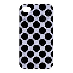 Circles2 Black Marble & White Marble (r) Apple Iphone 4/4s Premium Hardshell Case