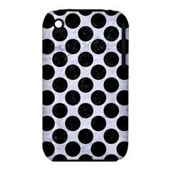 Circles2 Black Marble & White Marble (r) Apple Iphone 3g/3gs Hardshell Case (pc+silicone) by trendistuff