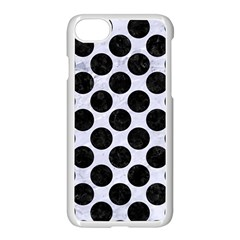 Circles2 Black Marble & White Marble (r) Apple Iphone 7 Seamless Case (white) by trendistuff
