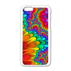 Colorful Trippy Apple Iphone 6/6s White Enamel Case by Onesevenart