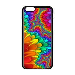 Colorful Trippy Apple Iphone 6/6s Black Enamel Case by Onesevenart