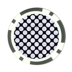 Circles2 Black Marble & White Marble Poker Chip Card Guard by trendistuff