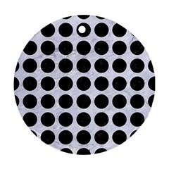 Circles1 Black Marble & White Marble (r) Round Ornament (two Sides) by trendistuff