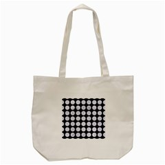 Circles1 Black Marble & White Marble Tote Bag (cream) by trendistuff