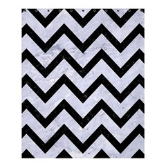 Chevron9 Black Marble & White Marble (r) Shower Curtain 60  X 72  (medium) by trendistuff