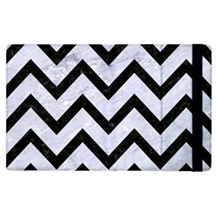 Chevron9 Black Marble & White Marble (r) Apple Ipad 2 Flip Case by trendistuff