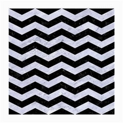 Chevron3 Black Marble & White Marble Medium Glasses Cloth (2 Sides) by trendistuff