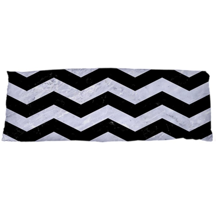CHEVRON3 BLACK MARBLE & WHITE MARBLE Body Pillow Case Dakimakura (Two Sides)