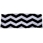 CHEVRON3 BLACK MARBLE & WHITE MARBLE Body Pillow Case Dakimakura (Two Sides) Back