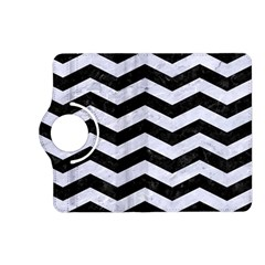 Chevron3 Black Marble & White Marble Kindle Fire Hd (2013) Flip 360 Case by trendistuff