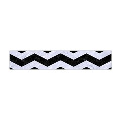 Chevron3 Black Marble & White Marble Flano Scarf (mini) by trendistuff