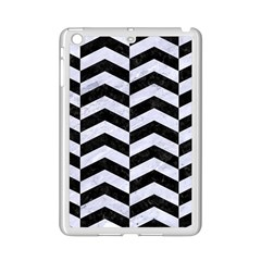 Chevron2 Black Marble & White Marble Apple Ipad Mini 2 Case (white) by trendistuff