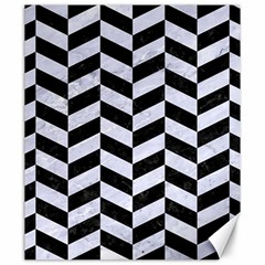 Chevron1 Black Marble & White Marble Canvas 20  X 24  by trendistuff