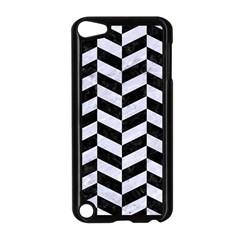 Chevron1 Black Marble & White Marble Apple Ipod Touch 5 Case (black) by trendistuff