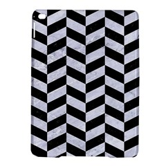 Chevron1 Black Marble & White Marble Apple Ipad Air 2 Hardshell Case by trendistuff