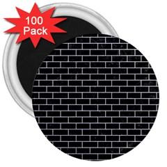 Brick1 Black Marble & White Marble 3  Magnet (100 Pack) by trendistuff