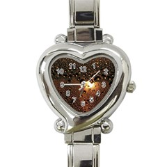 Condensation Abstract Heart Italian Charm Watch by Onesevenart