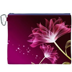 Drawing Flowers Lotus Canvas Cosmetic Bag (xxxl) by Onesevenart