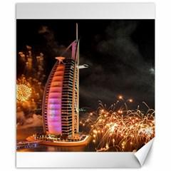 Dubai Burj Al Arab Hotels New Years Eve Celebration Fireworks Canvas 8  X 10  by Onesevenart