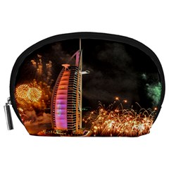 Dubai Burj Al Arab Hotels New Years Eve Celebration Fireworks Accessory Pouches (large)  by Onesevenart