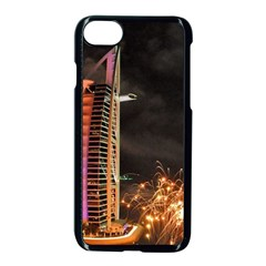 Dubai Burj Al Arab Hotels New Years Eve Celebration Fireworks Apple Iphone 7 Seamless Case (black) by Onesevenart