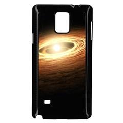 Erupting Star Samsung Galaxy Note 4 Case (black) by Onesevenart