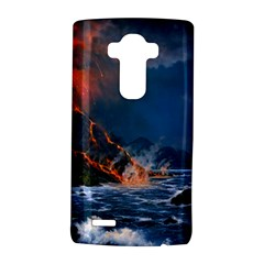 Eruption Of Volcano Sea Full Moon Fantasy Art Lg G4 Hardshell Case by Onesevenart