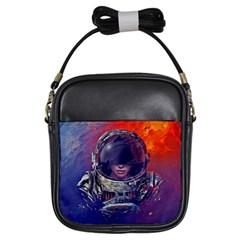 Eve Of Destruction Cgi 3d Sci Fi Space Girls Sling Bags by Onesevenart