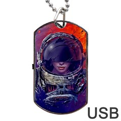 Eve Of Destruction Cgi 3d Sci Fi Space Dog Tag Usb Flash (one Side) by Onesevenart