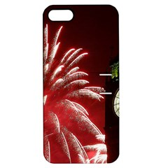 Fireworks Explode Behind The Houses Of Parliament And Big Ben On The River Thames During New Year's Apple Iphone 5 Hardshell Case With Stand by Onesevenart