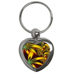 Floral Design Computer Digital Art Design Illustration Key Chains (heart)  by Onesevenart