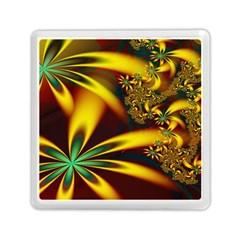 Floral Design Computer Digital Art Design Illustration Memory Card Reader (square)  by Onesevenart