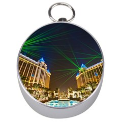 Galaxy Hotel Macau Cotai Laser Beams At Night Silver Compasses by Onesevenart