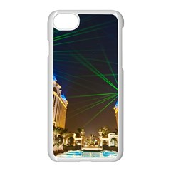 Galaxy Hotel Macau Cotai Laser Beams At Night Apple Iphone 7 Seamless Case (white) by Onesevenart