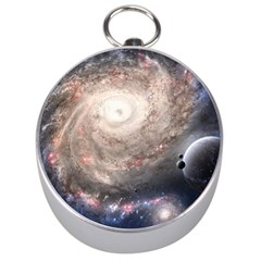 Galaxy Star Planet Silver Compasses by Onesevenart