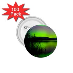 Green Northern Lights Canada 1 75  Buttons (100 Pack)  by Onesevenart