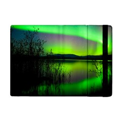 Green Northern Lights Canada Apple Ipad Mini Flip Case by Onesevenart