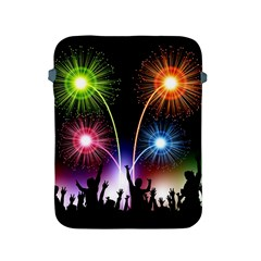 Happy New Year 2017 Celebration Animated 3d Apple Ipad 2/3/4 Protective Soft Cases by Onesevenart